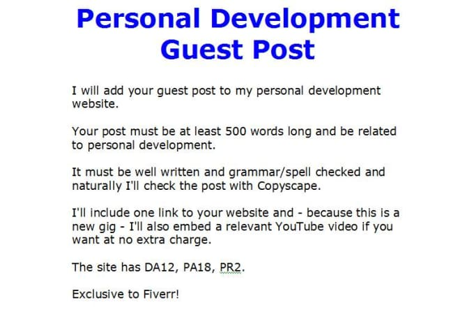 place your guest post on my personal development blog