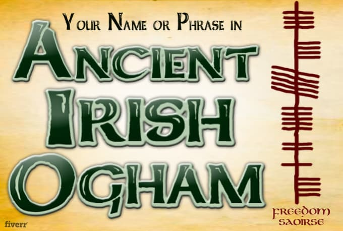 Use Ancient Irish Symbols To Display Your Name Or Message By