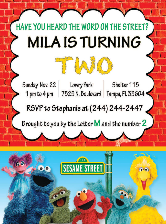 Create A Fun Sesame Street Birthday Invitation