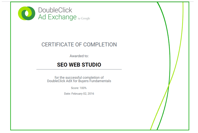 Do doubleclick adx exam certification in 1 day by Seowebstudio