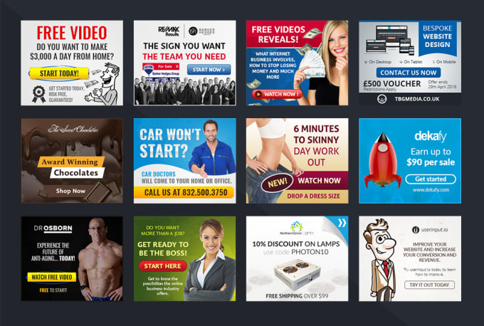 i will design banner ads with a great conversion rate