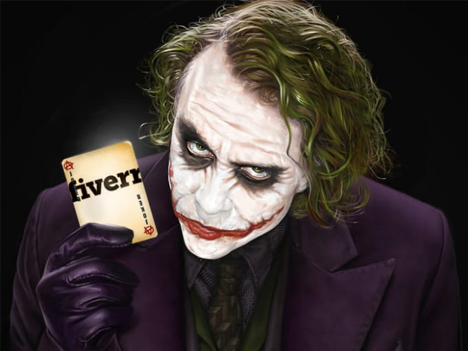 make great joker hold card of your picture logo or text by