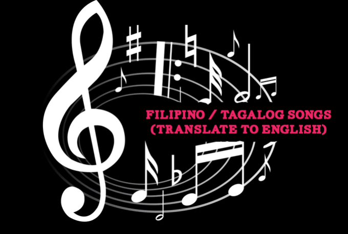 translate filipino tagalog songs to english or vice versa by iamaileen