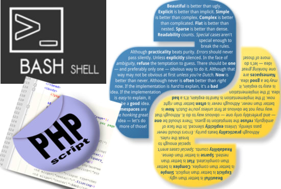create linux bash shell, php or python scripts