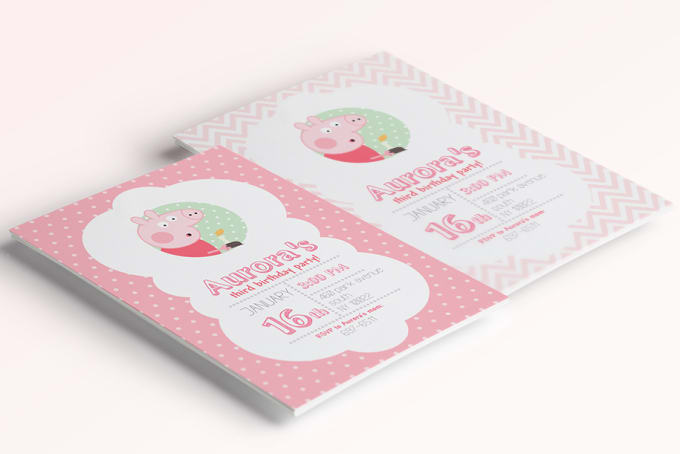 Design A Printable Peppa Pig Invitation And Party Supplies