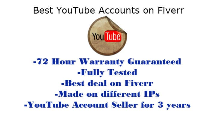 imnotanoob : I will 20 Verified Accounts Gmail Google YouTube With 3 Day  WARRANTY for $5 on www fiverr com