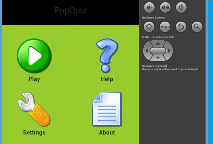 program your quiz and answer android app