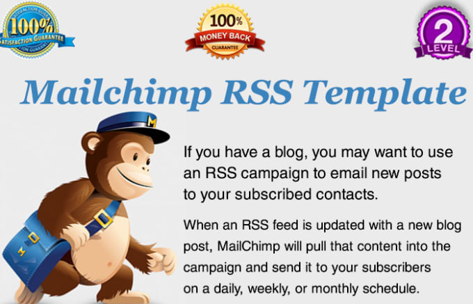 Design rss to email responsive mailchimp template by Webxpertwp