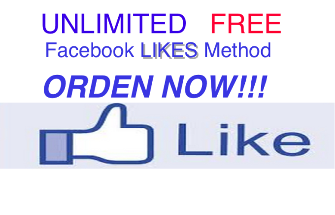 garciafix1 : I will unlimited facebook LIKES free, FACEBooK LIkes for $5 on  www fiverr com