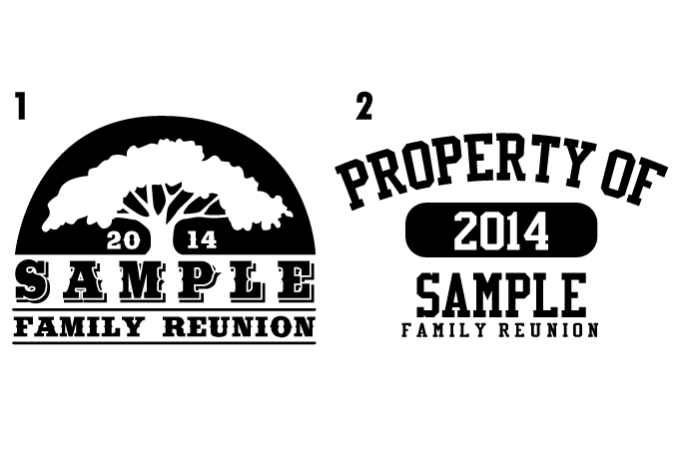 customize a family reunion design for flyers or shirts by jatalada