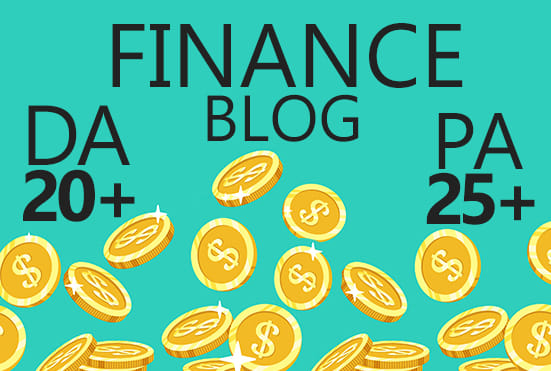 submit a guest post on a quality finance blog