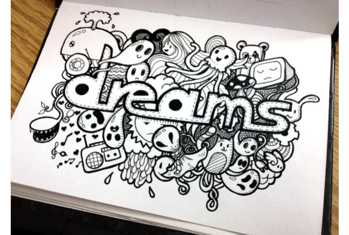 Make doodle art with your name in it by Sour91apple