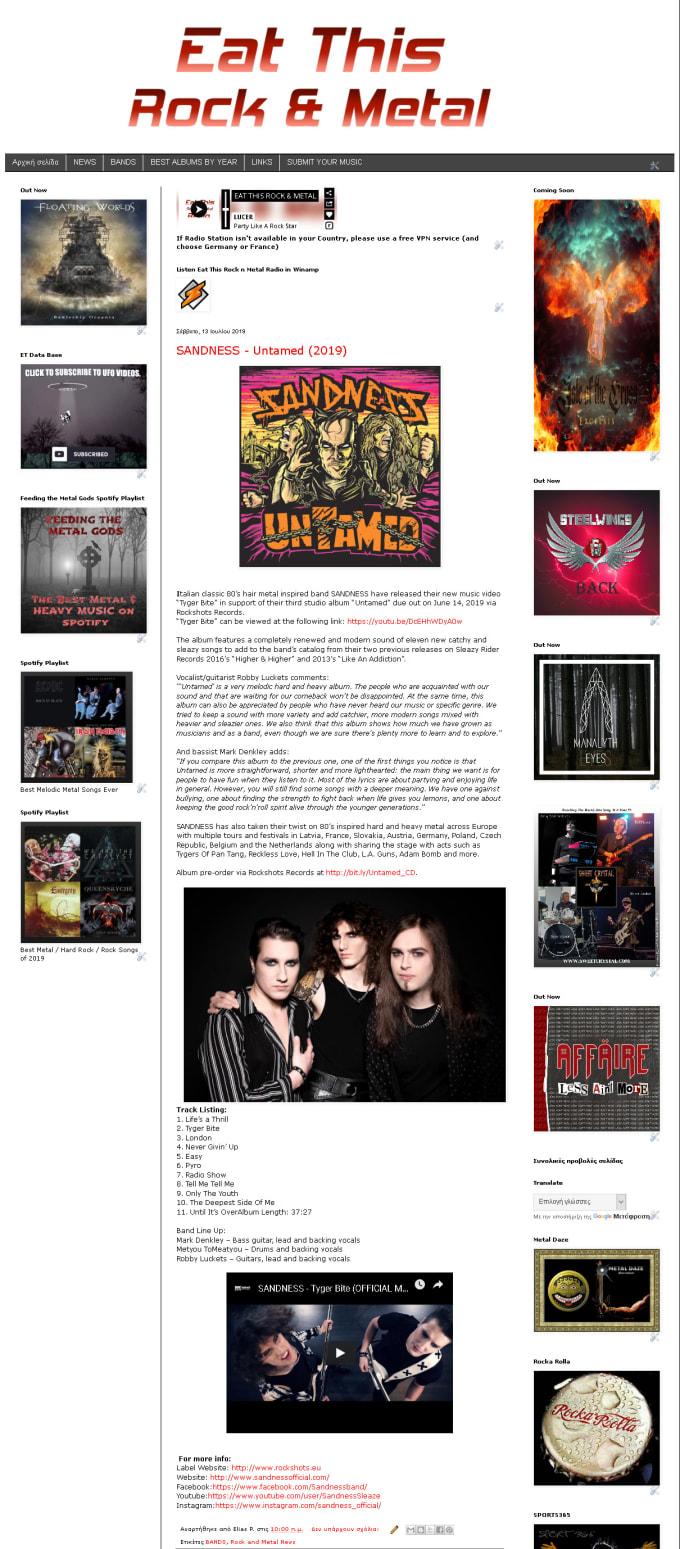Metal songs popular