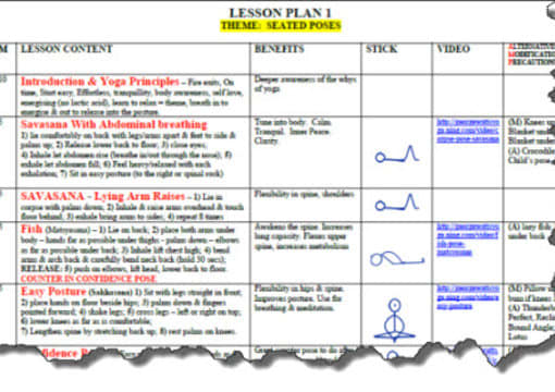 Send You A Yoga Lesson Plan Template In Microsoft Word