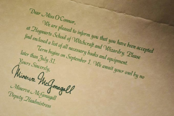 Custom Hogwarts Acceptance Letter.Ignotusshubham I Will Send You A Personalized Hogwarts Acceptance Letter For 5 On Www Fiverr Com