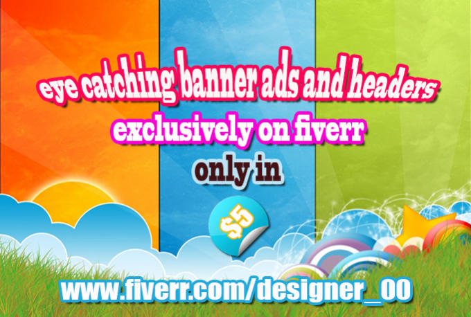 design eye catching banner ads and headers for your website by