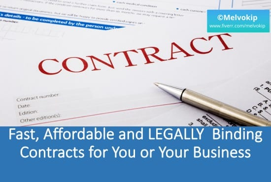 Draft A Legally Binding Contract Or Agreement - Legally binding document
