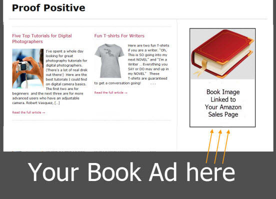 advertise your kindle book on my popular website