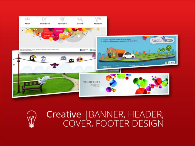 design eye catching banner header or footer by ebilal