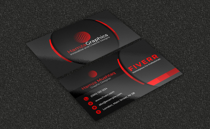 I will make a eye catching business card fiverr do professional business card design reheart Image collections