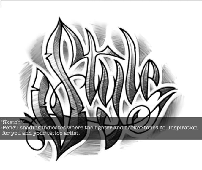Custom Draw A Tattoo Lettering Design In My Style By Paul35k