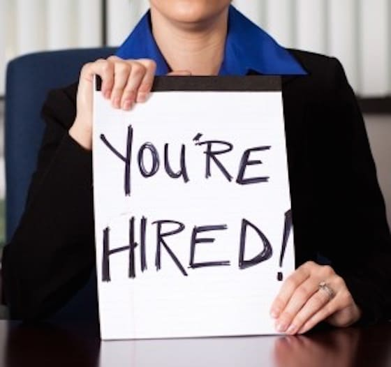 deliver an acceptance letter to follow your job offer by