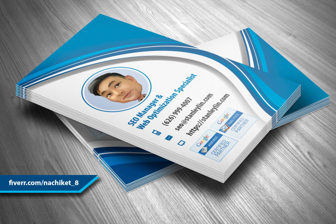Business card fiverr design eye catching business cards colourmoves Choice Image