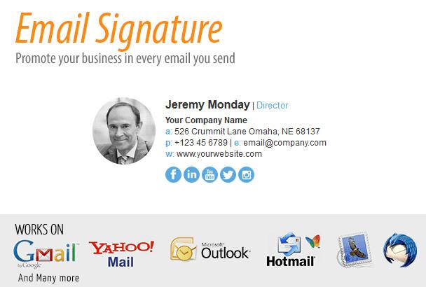 hotmail signature html