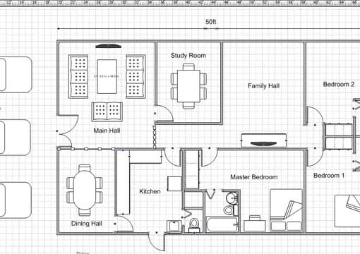 Draw a simple floor plan for your dream house by azanne1407 for Simple floor plan drawing