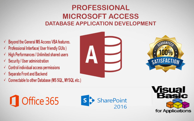 develop Microsoft Access Database Application of any Scale