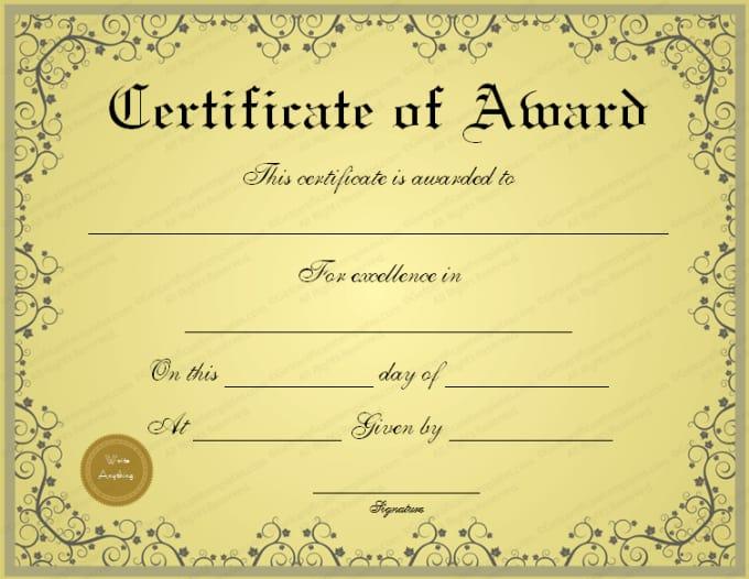 create a fake certificate