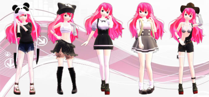 make simple MMD model or accessories