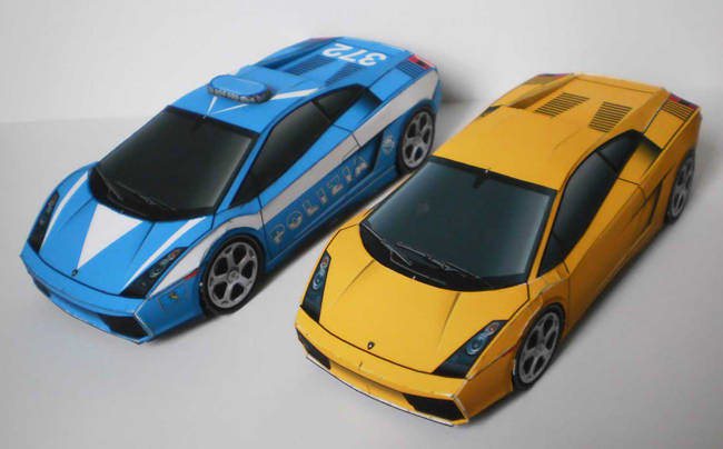 make a papercraft sports cars with your logo on it