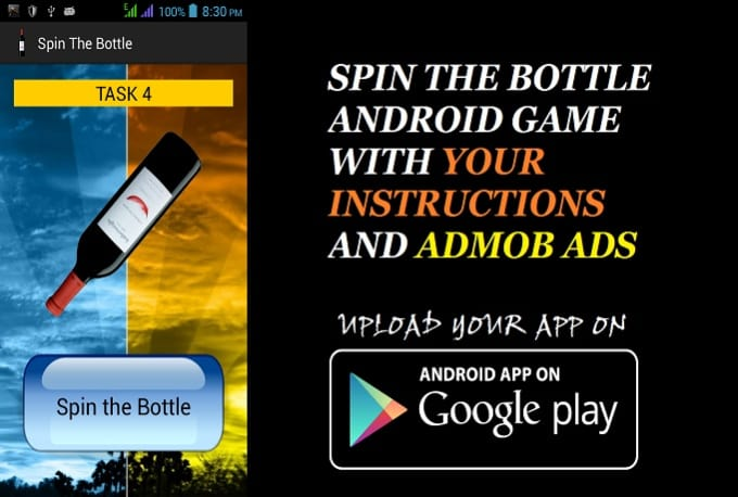 give u Spin the bottle android game and source code