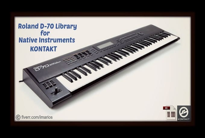 send you Roland D70 Kontakt Library
