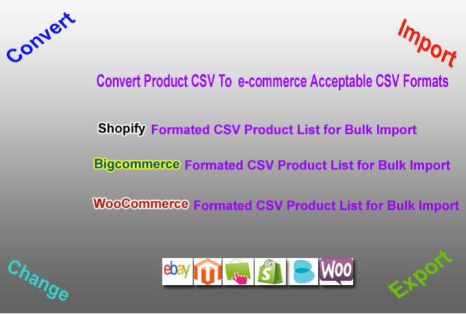 do CSV bulk upload to shopify or bigcommerce