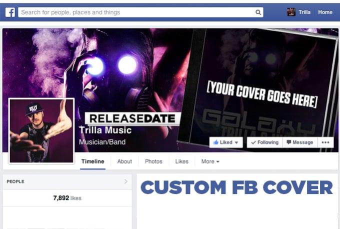 create a mockup music Facebook cover