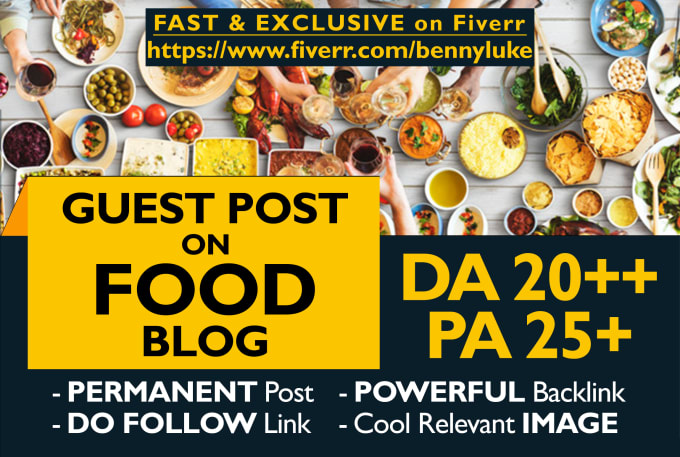 submit a guest post on a quality food blog