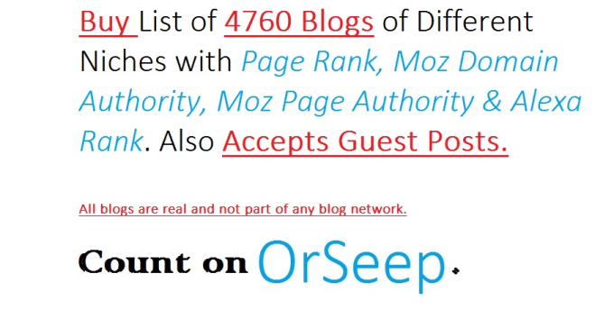 give you list of 4500 Blogs that accepts Guest Post