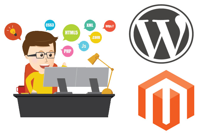 Install, customize wordpress and magento theme or template by ...