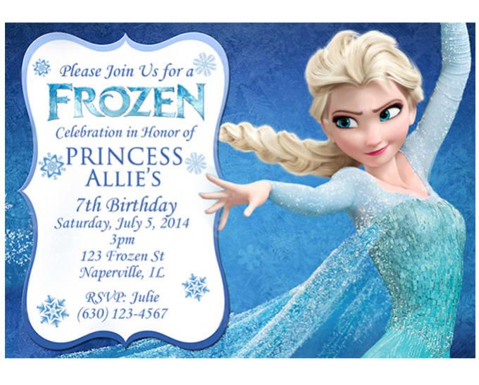 Make A Disney Frozen Birthday Invitation By Jillofallgigs