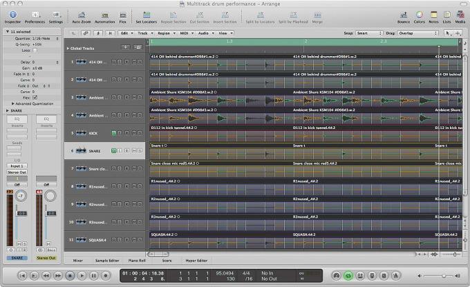 quantize real drums audio tracks