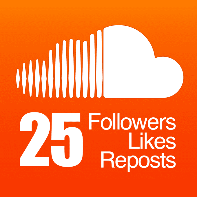 add 25 SoundCloud Followers, Likes and Reposts