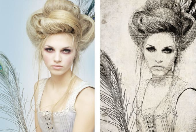 Turn your photo into an artistic sketch drawing