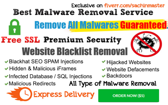 clean virus malware from any hacked website within 24 hours