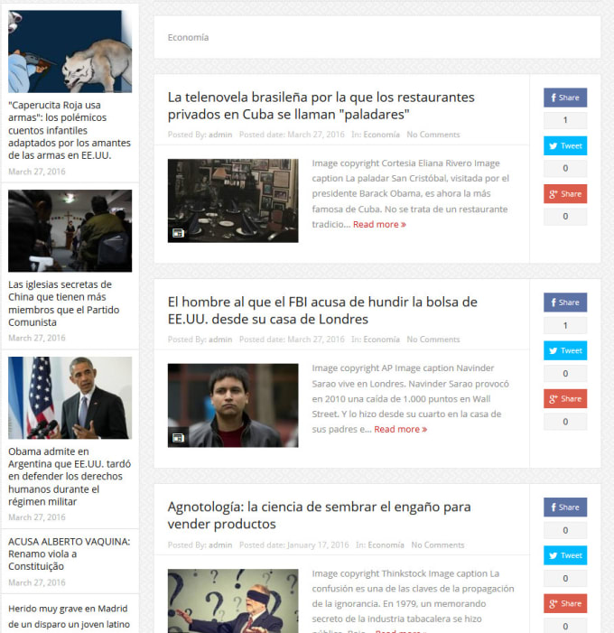 advertise your banner on my Spanish News Website