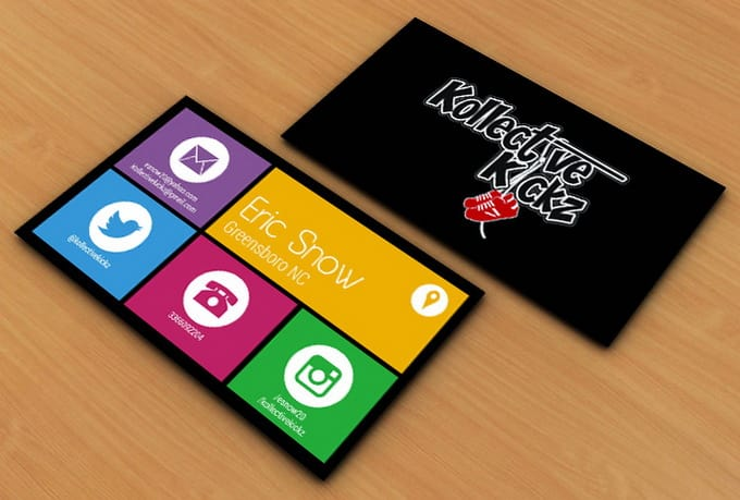 Design Windows 8 Business Card By Sarahperacha