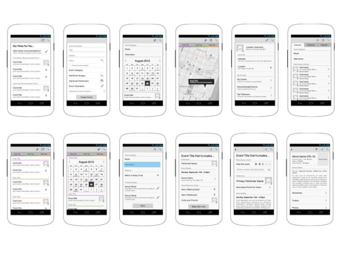 Wireframe Your Android App By Vivdub
