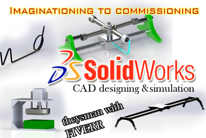 design 3d solidworks parts, assembly and simulations in 24hrs
