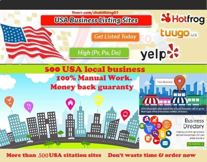 do 500 USA local business listing